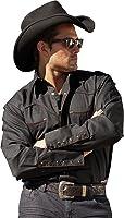 Stars & Stripes Homme Western chemise «Jack» Noir