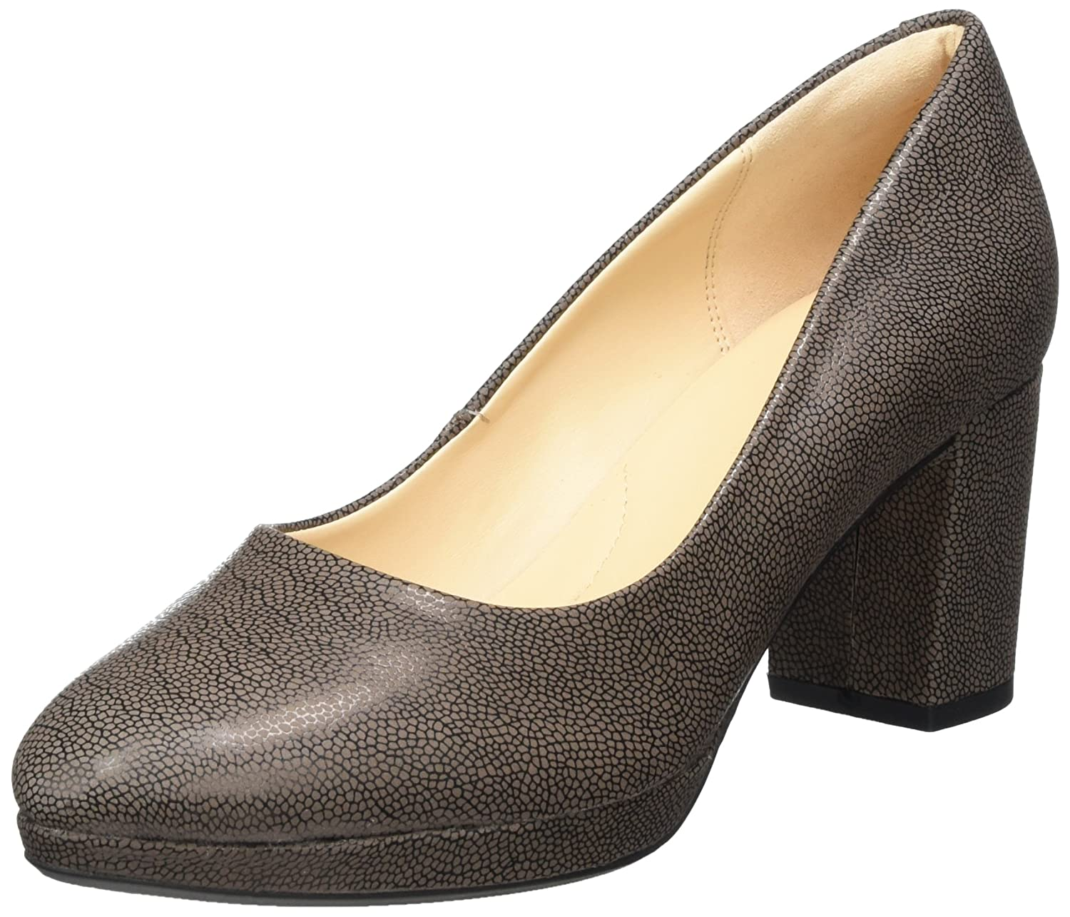 Clarks Damen Kelda Hope Pumps35.5 EU|Grau (Taupe Leather)