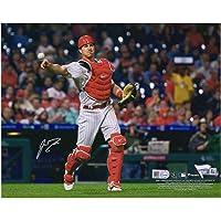 "J.T. Realmuto Philadelphia Phillies Autographed 8"" x 10"" Catching Photograph - Autographed MLB Photos photo"