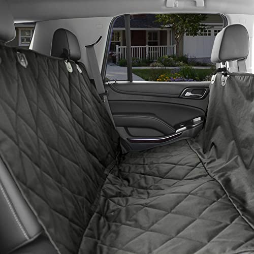 KOPEKS Dog Car Seat Cover -Waterproof Non Slip Padded Quilted Protector with Seat Anchors and Head Straps