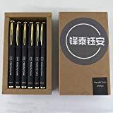Fengtaiyuan 038P18, Ultra Fine 0.38mm, Gel Ink Rollerball Pens, Black Ink, Writing Smooth, Business Pens, 18 Pack (0…