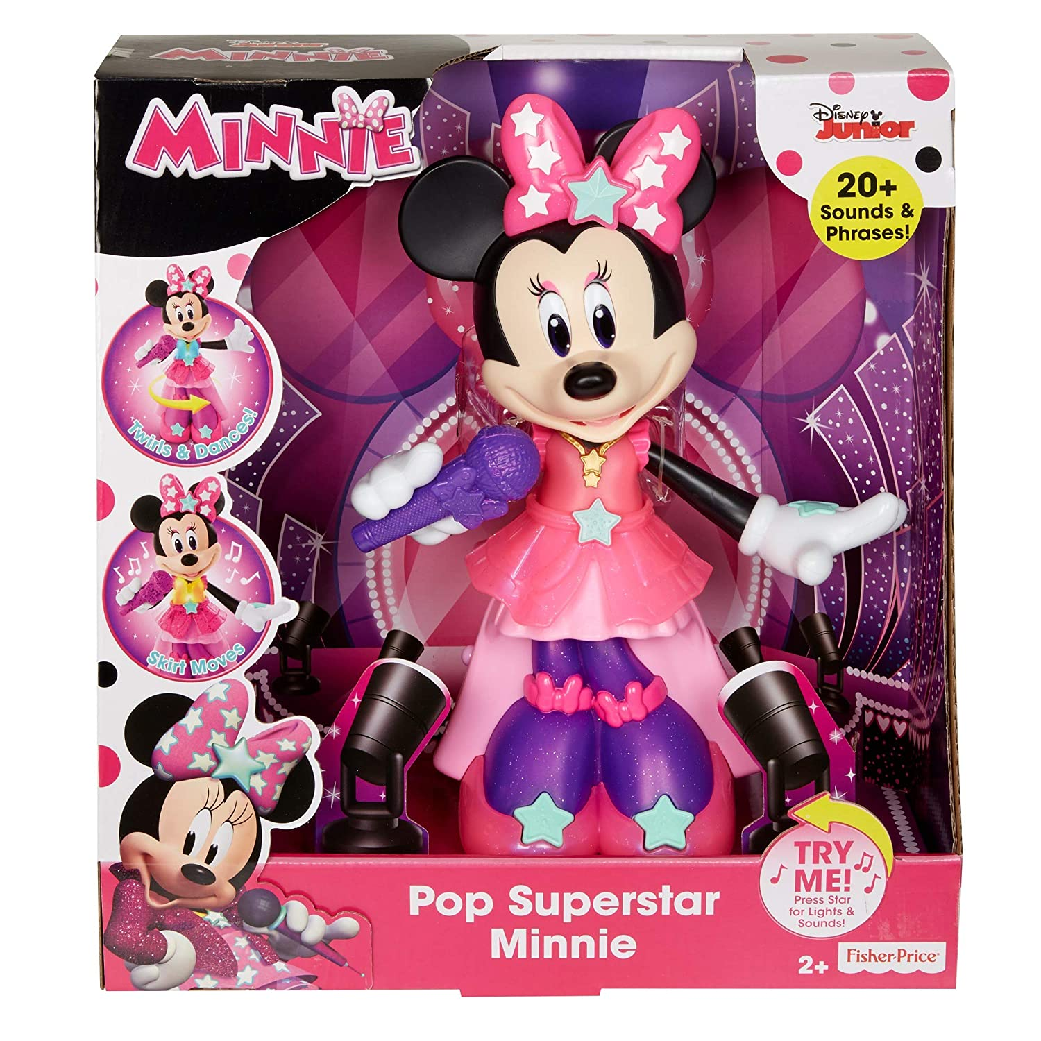 Amazon.com: Fisher-Price Disney Minnie, Pop Superstar Minnie: Toys & Games
