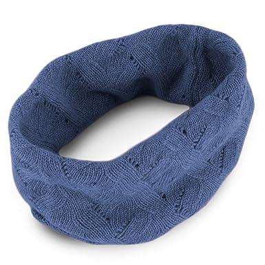07f1d24069c69b Love Cashmere Damen-Schlauchschal aus 100% Kaschmir - Denimblau -  Handgefertigt in Schottland UVP