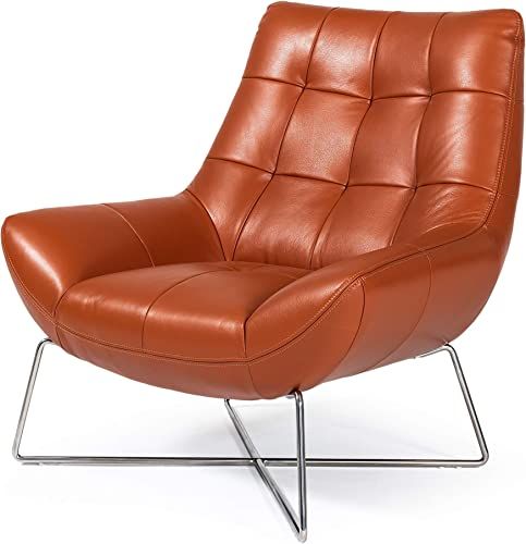 Limari Home Imari Collection Modern Style Living Room Full Leather Lounge Chair