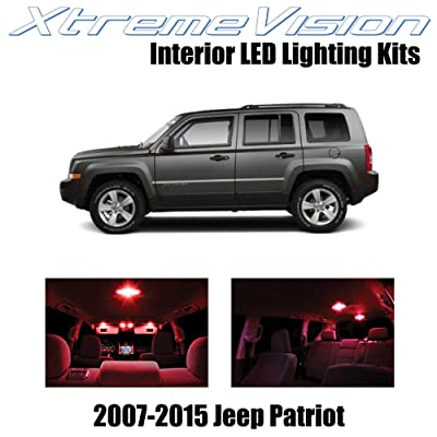 Xtremevision Interior LED for Jeep Patriot 2007-2015 (6 Pieces) Red Interior LED Kit + Installation Tool: Automotive