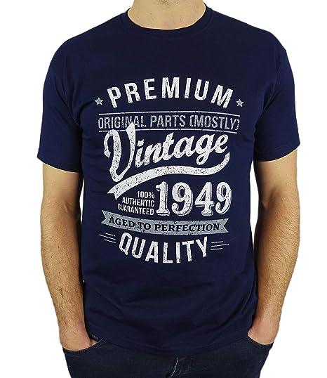 My Generation Gifts 1949 Vintage Year - Aged to Perfection - 70 Cumpleaños Años - Regalo de Cumpleaños Camiseta para Hombre
