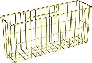 AmazonBasics Hanging Basket for Wall Grid Panel, Gold