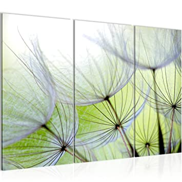 Amazon.de: Runa Art Bilder Blumen Pusteblume Wandbild 120 x 80 cm ...
