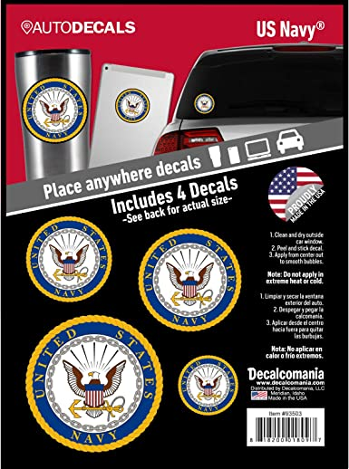US Navy Stickers Decal Military Car Window United States Armed Forces