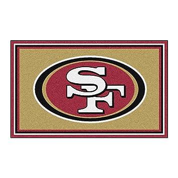 FANMATS NFL San Francisco 49ers Nylon Face 4X6 Plush Rug