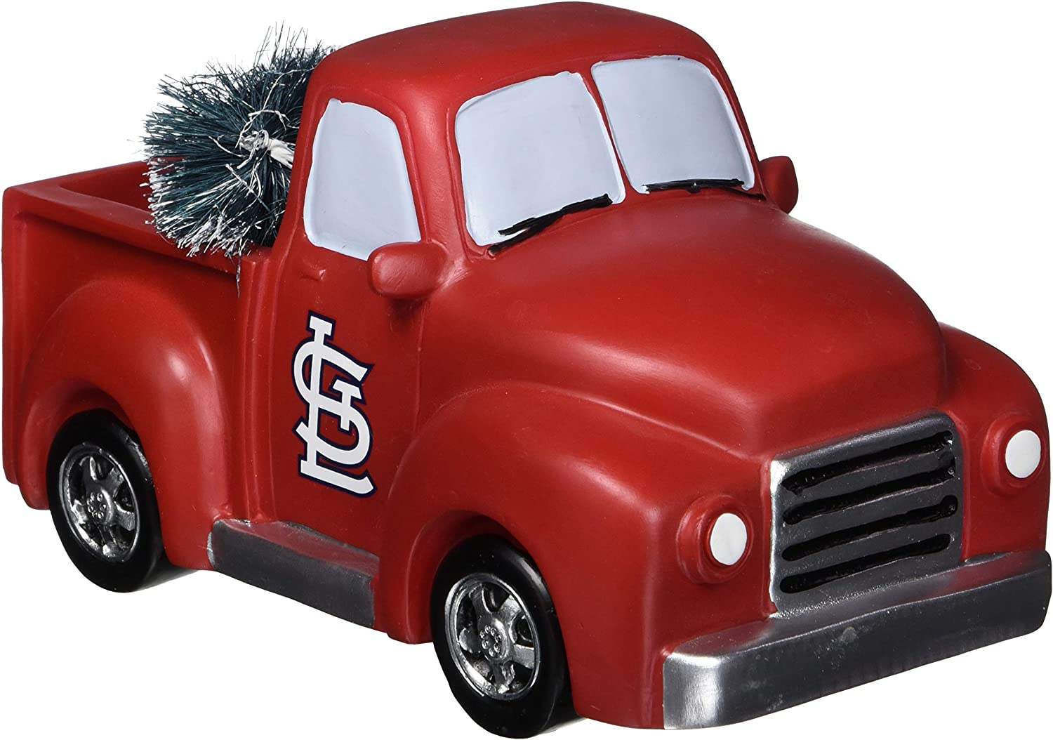 FOCO MLB St. Louis Cardinals Unisex Truck with Tree Table TOPTRUCK with Tree Table TOP, Team Color, OS
