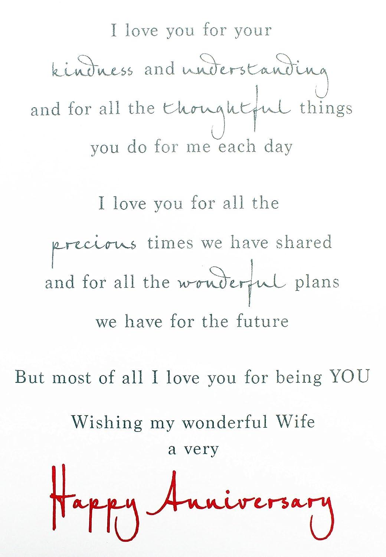 Wedding Anniversary Greeting Card For Wife Verse Milestone Hallmark
