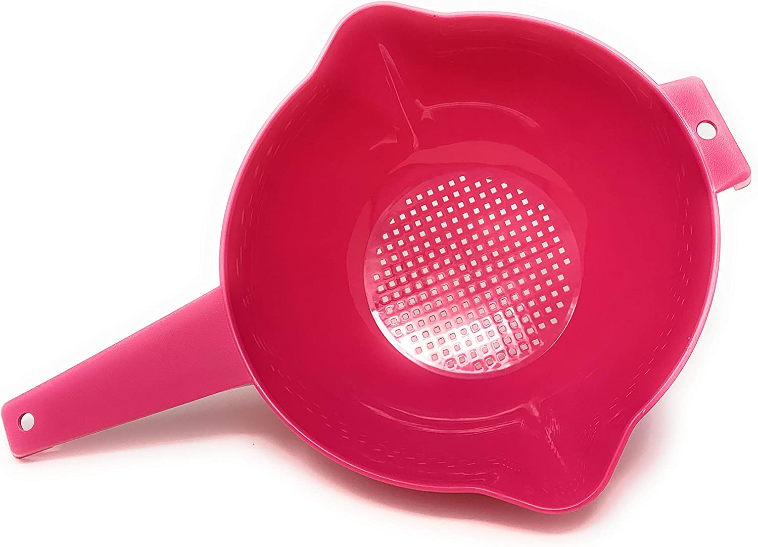 Tupperware 2 Quart Colander Strainer with Handle, Pink