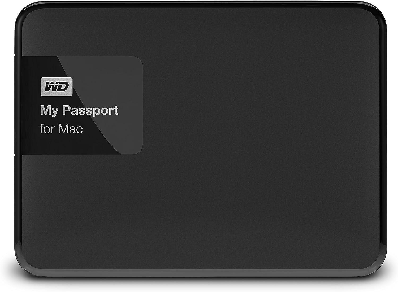 WD 2TB Black My Passport for Mac Portable External Hard Drive - USB 3.0 - WDBCGL0020BSL-NESN