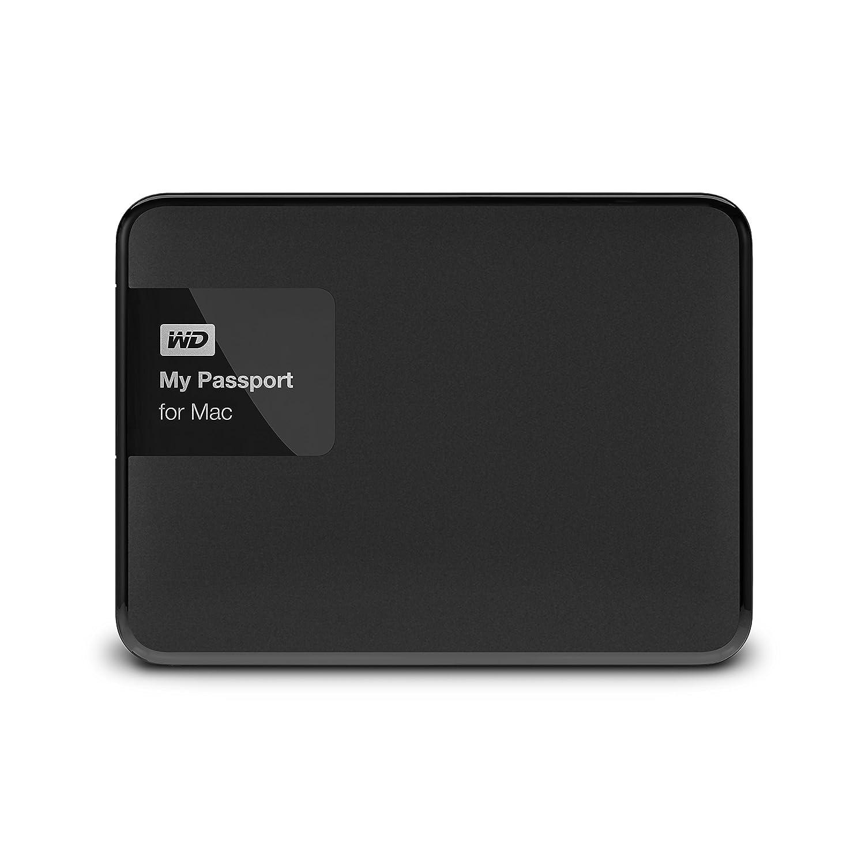 WD 2TB Black My Passport for Mac Portable External Hard Drive - USB 3 0 -  WDBCGL0020BSL-NESN