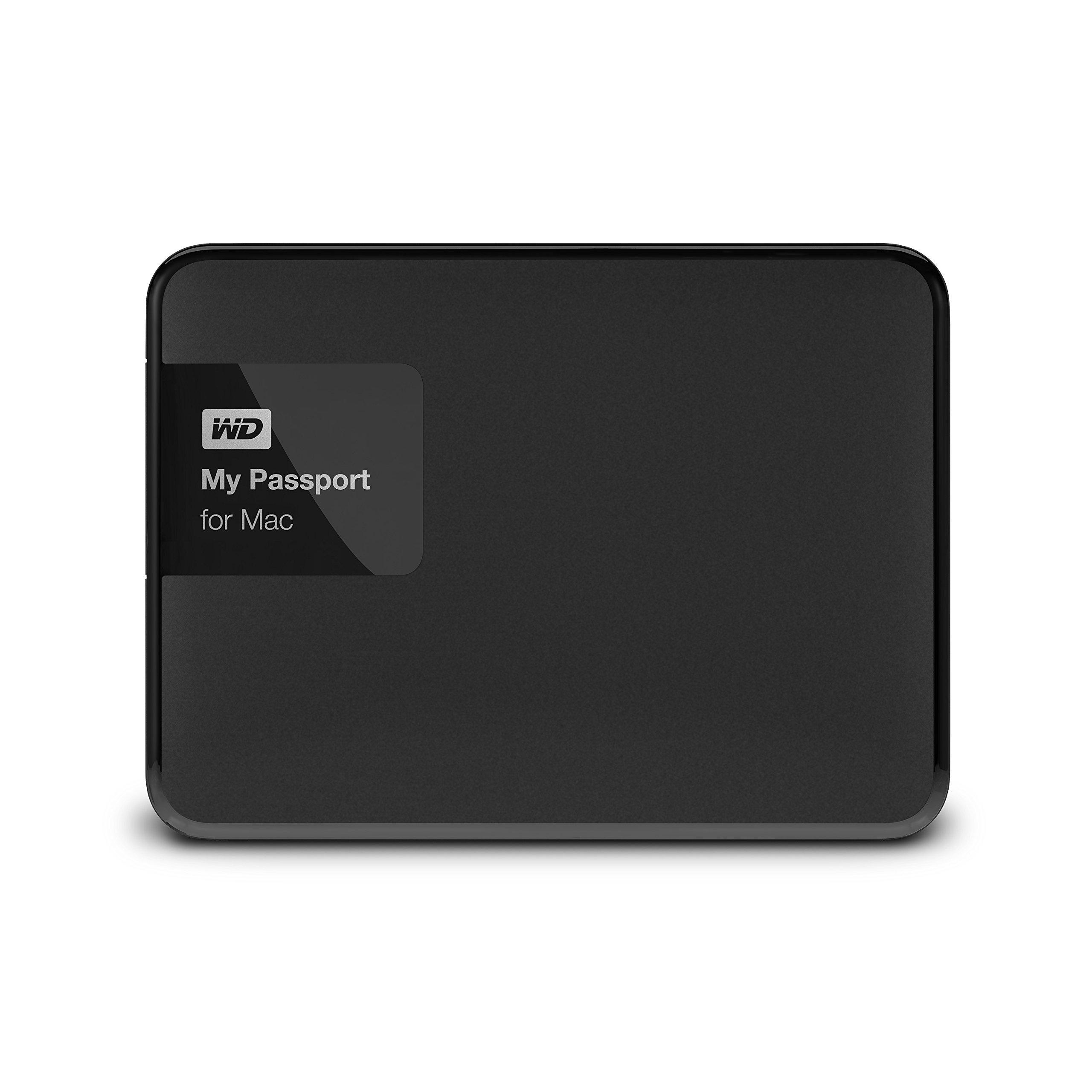 WD 1TB Black My Passport for Mac Portable  External Hard Drive  - USB 3.0  - WDBJBS0010BSL-NESN by Western Digital