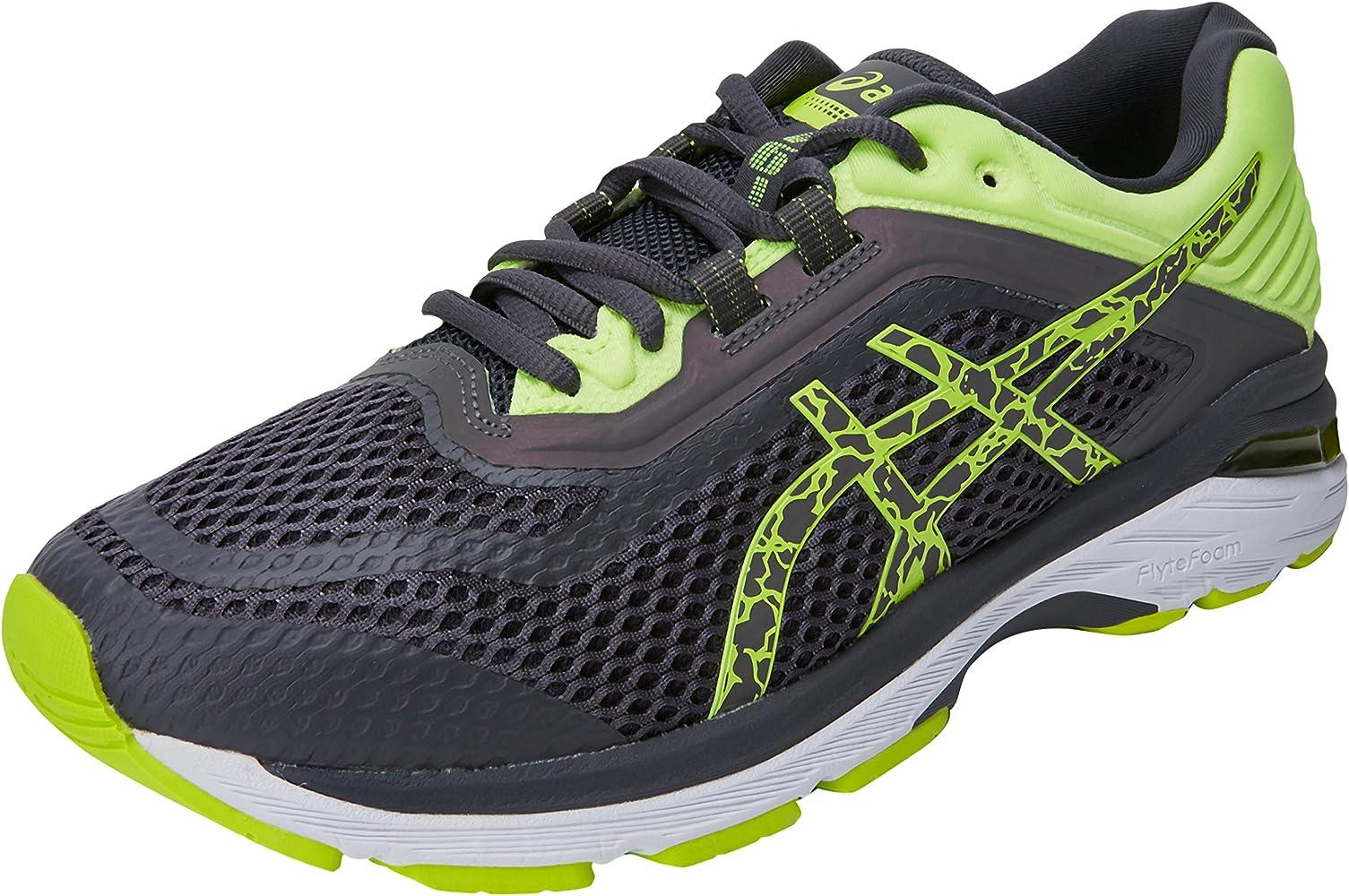 Asics GT-2000 6 Lite-Show, Zapatillas de Entrenamiento para Hombre, Gris (Dark Grey/Dark Grey/Safety Yellow 9595), 41.5 EU: Amazon.es: Zapatos y complementos