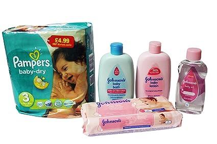 Recién nacido bebé Essentials – Aceite de Baño de pañales Pampers Baby Lotion Wipes – Paquete