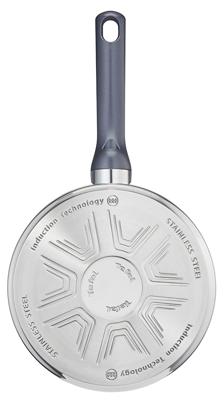 Tefal Daily Cook - Cazo de acero inoxidable de 16 cm, 1 Litro, base reforzada, aptas para todo tipo de cocinas incluido inducción, gran conductividad ...