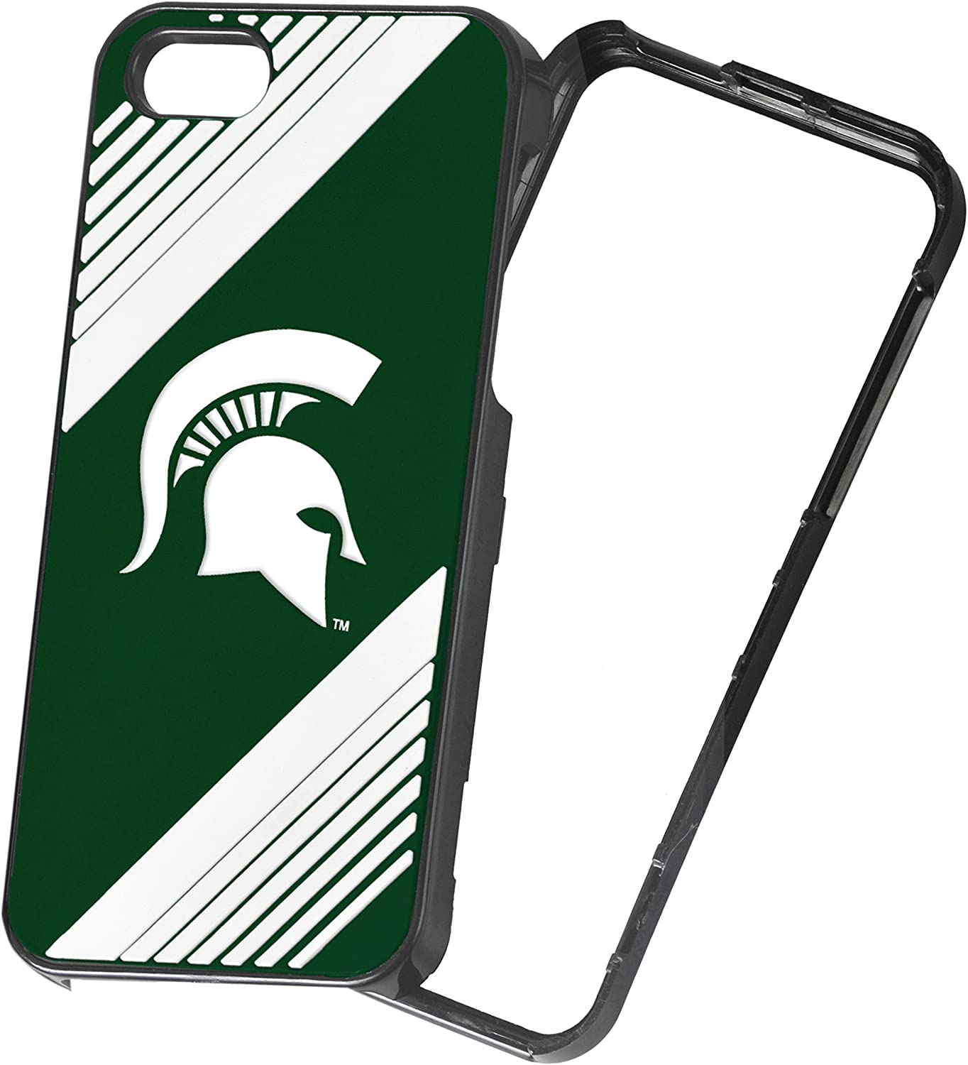 Forever Collectibles NCAA 2-Piece Snap-On iPhone 5/5S Polycarbonate Case - Retail Packaging - Michigan State Spartans