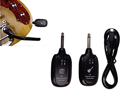 Amazon.com: Wireless System Electric Guitar Live Stage Transmitter ...