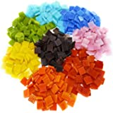 Colorful Mosaic Tiles – 480 Pieces Pack of Assorted Stained Glass Mosaic Tile Supplies for DIY Crafts, Plates, Picture…