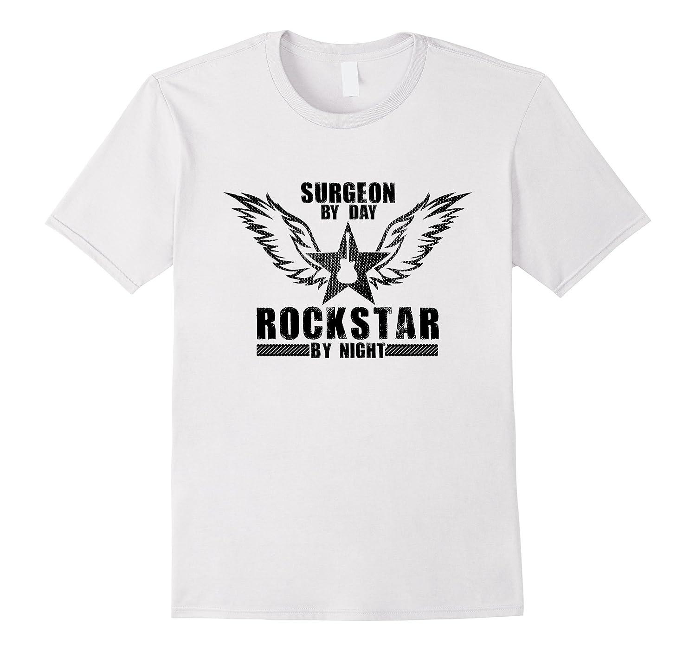 Surgeon by Day  Rockstar by Night T-Shirt Black-TD