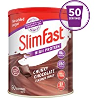 SlimFast High Protein Meal Replacement, Chunky Chocolate, Serving 50