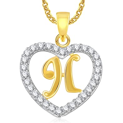 004ce3123b Buy Valentine Gifts MEENAZ 'H' Letter Heart Pendant Locket Alphabet for  Women and Men with Chain Online at Low Prices in India | Amazon Jewellery  Store ...