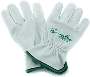 Heavy Duty Goatskin Leather Work Gloves for Men and Women. General Purpose Utility, Driver, Rigger, Safety, and Gardening Gloves (Extra Small)