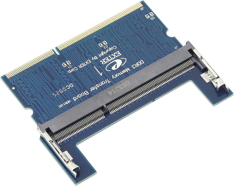 Laptop DDR3 SO-DIMM to Desktop DIMM Memory RAM Adapter,Gelrhonr Desktop PC Memory Cards Converter,1.5v(Reverse) Blue