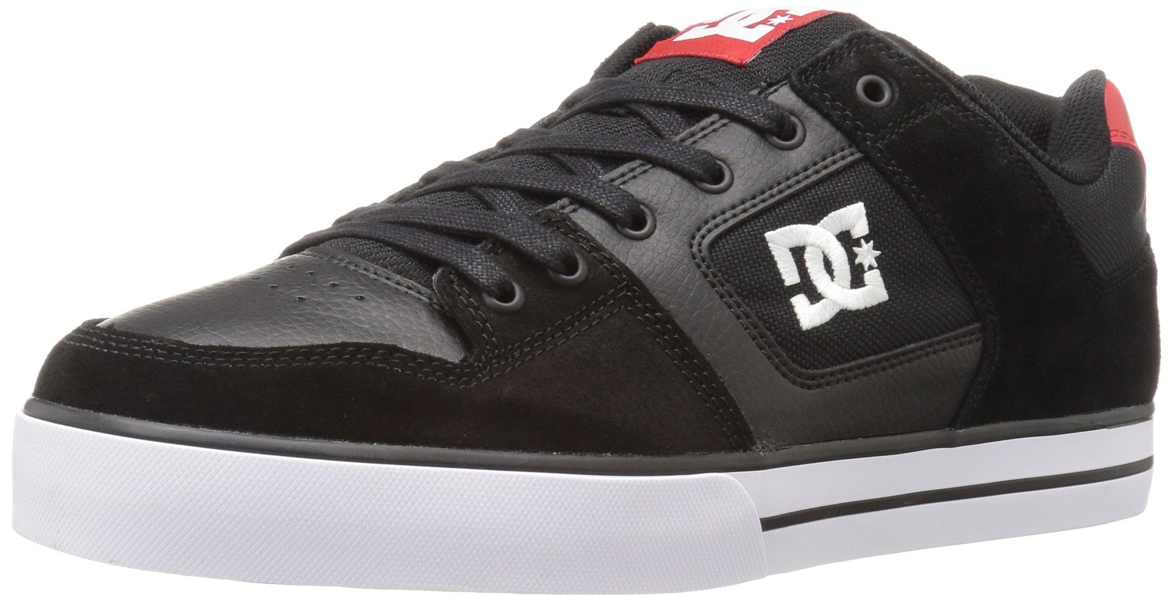 DC Shoes Mens Shoes Pure - Shoes - Men - 9.5 - Black Black/Athletic Red 9.5 by DC (Image #1)