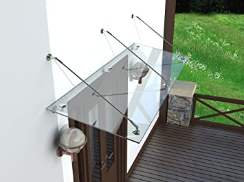 Weber Modern Glasvordach Vordach Turvordach Turdach Haustur Klarglas