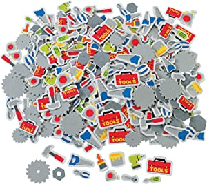 Fun Express Tool Self-Adhesive Shapes Foam Stickers (500 pieces)- Arts & Crafts, After School Supplies, Classroom Activities