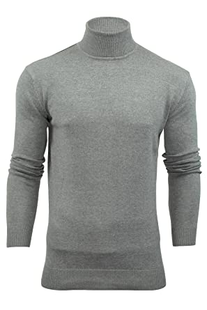 6216d43e675f96 Xact Mens Jumper Roll Neck - Polo Neck Jumper Long Sleeved: Amazon.co.uk:  Clothing