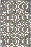 """Green Decore 1130,9x 1,5m """"Modern grigio alba e Pezzato"""" leggero Tappeto in plastica reversibile per interni/esterni, colore: grigio"""
