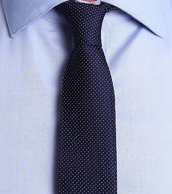 Devred-Corbata para hombre seda micrófono, diseño de lunares azul ...