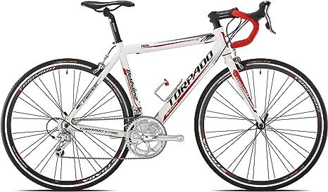 Torpado - Bicicleta de Carretera Destriero, 9V, de Aluminio, Talla 51, Colores Blanco y Rojo (Carrera en Carretera): Amazon.es: Deportes y aire libre
