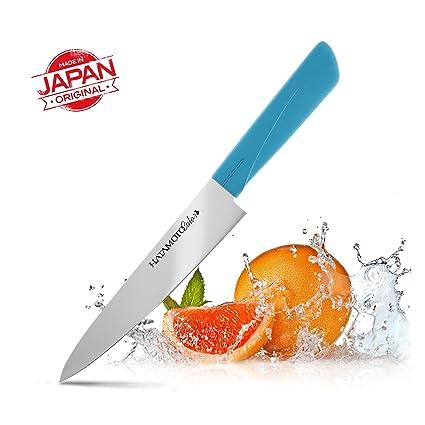 Cuchillo Japones - Cuchillos de Cocina Profesionales - Acero Inoxidable - Cuchillo Multiuso para Carne Pescado y Verduras - Cuchillo Cebollero ...