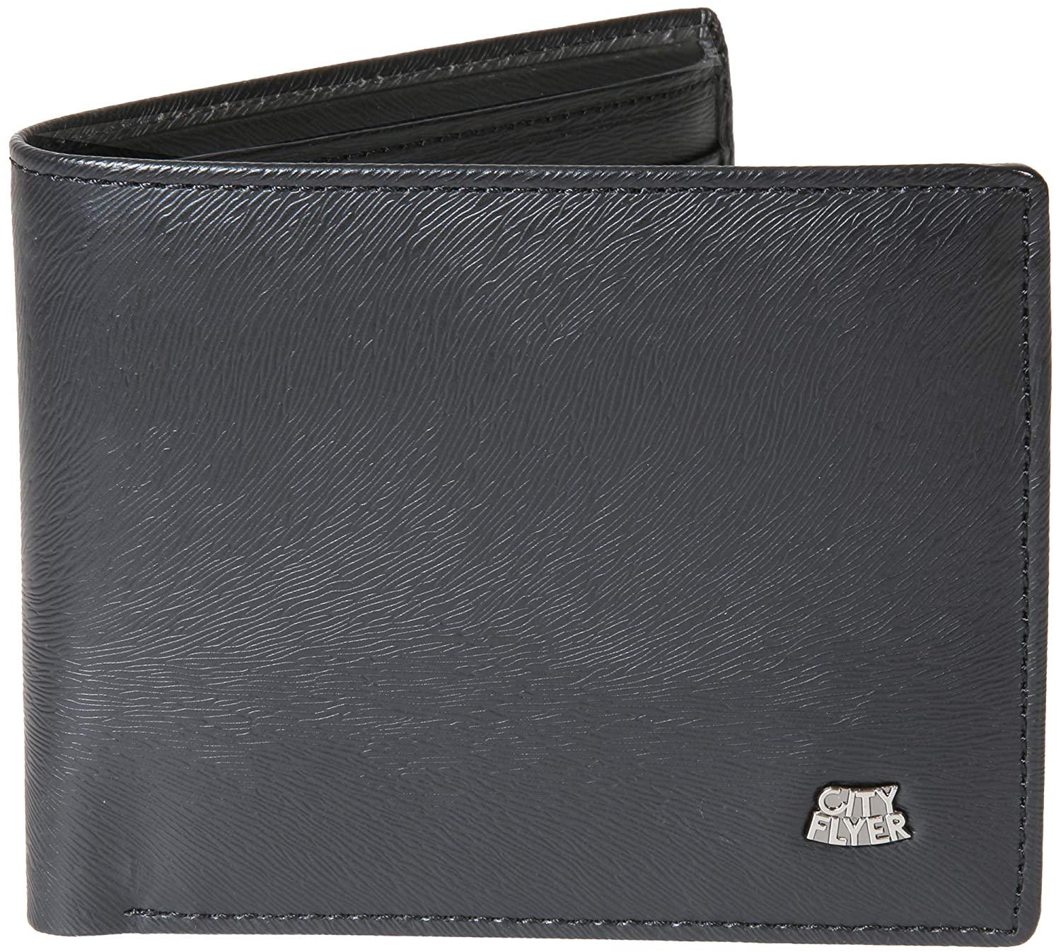 City Flyer Mens Wallet Thin Sleek Casual Bifold Wallet with 8 Credit Card Pockets.