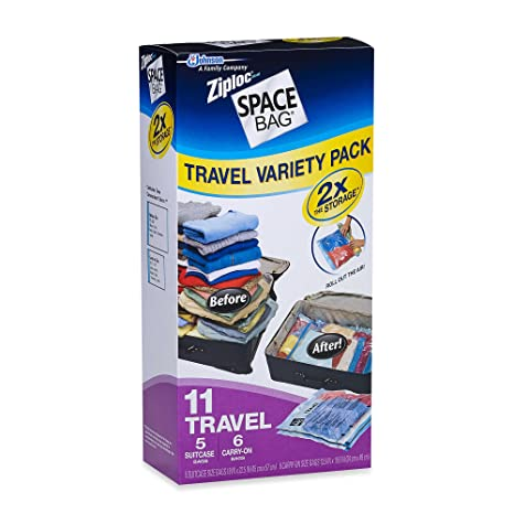 Amazon.com: Ziploc Espacio Bolsa bolsas de viaje Variety ...
