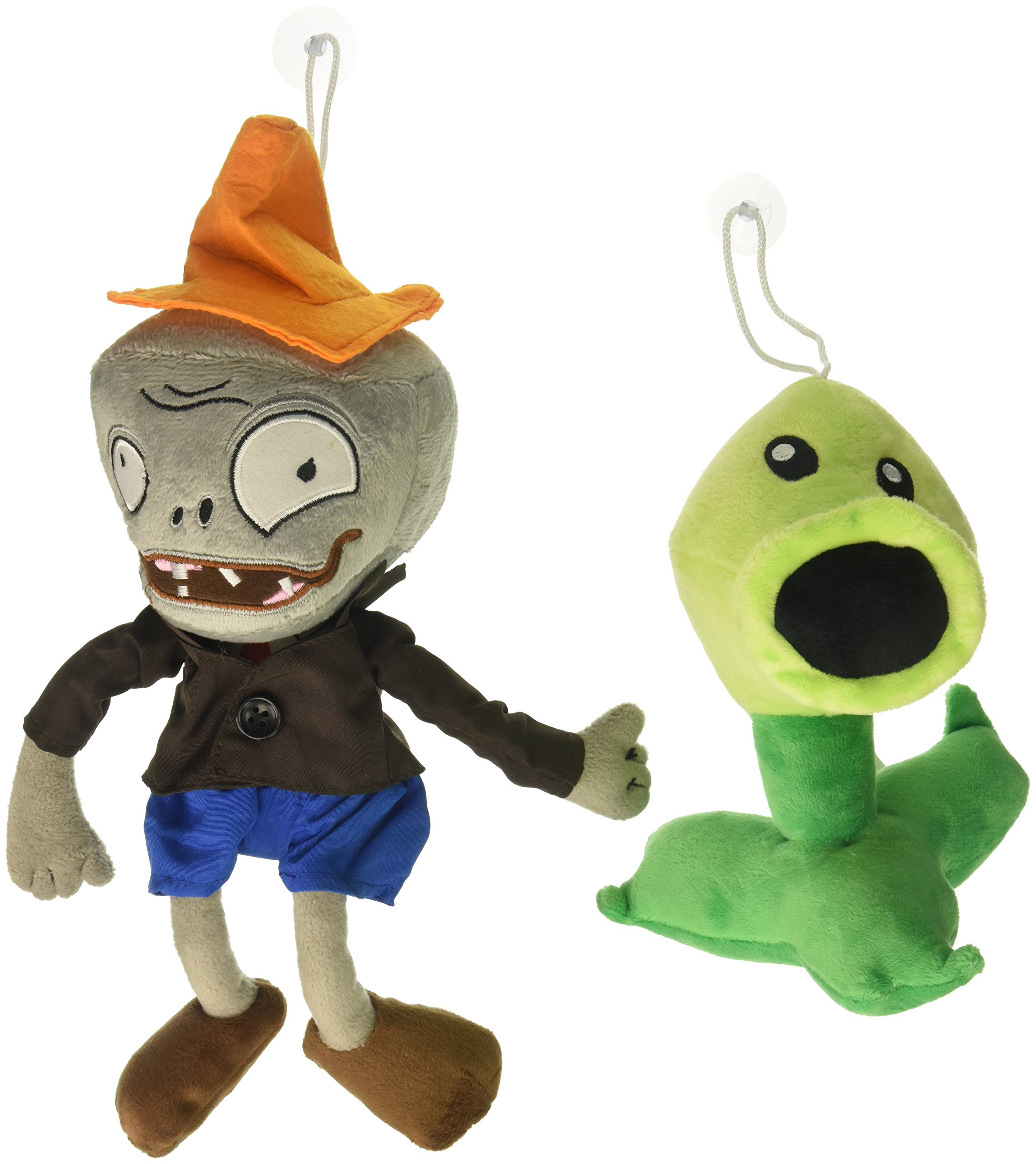 Toyswill Plants Vs Zombies Plush Toys Conehead Zombie 10'', Peashooter 17cm/6.7'' Tall Plush by Generic