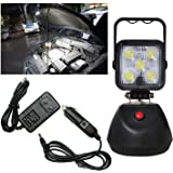 PA Work Light 12/24V LED 1800 Lumens White Flood Magentic Base with A/C & D/C Chargers