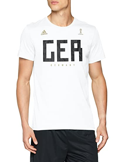 e62846b18e5 adidas Men Tshirts Football Germany Tee World Cup Russia 2018 FIFA (XS)  White