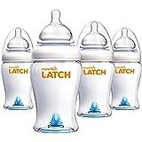 Munchkin Latch BPA-Free Baby Bottle, 8 Ounce, 4 Pack