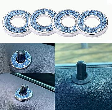 Pink Bling Inner Car Door Lock Shiny Sparkles Auto Car Door Lock Stickers Women C Class Accessories