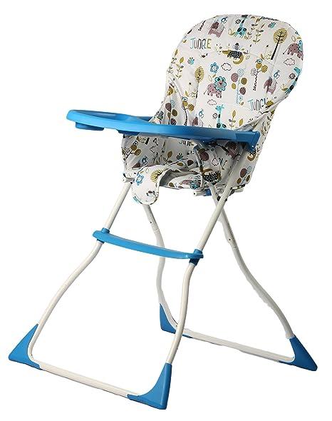 Strange Baybee Plastic High Chair For Kids 62X95X46Cm Blue Creativecarmelina Interior Chair Design Creativecarmelinacom