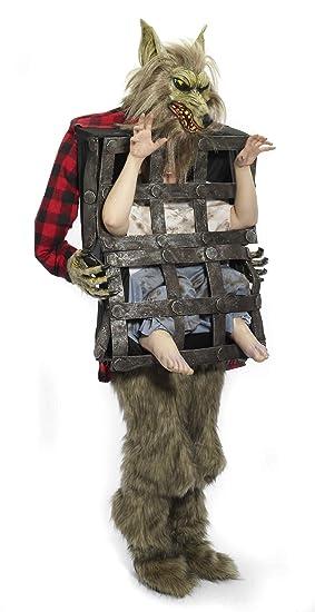 Disfraz lobo hombre en jaula adulto - L: Amazon.es: Juguetes y juegos