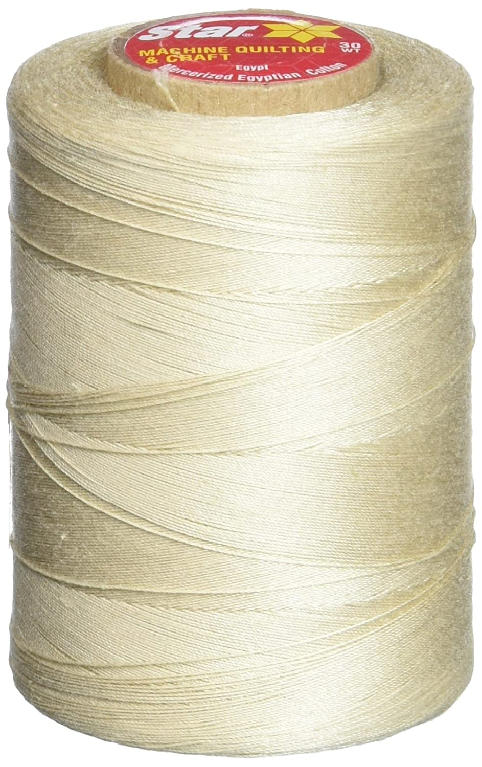 Star Thread V37-016 3-Ply 30wt T-35 Cotton Quilting & Craft Thread, 1200 yd, Ecru Notions - In Network