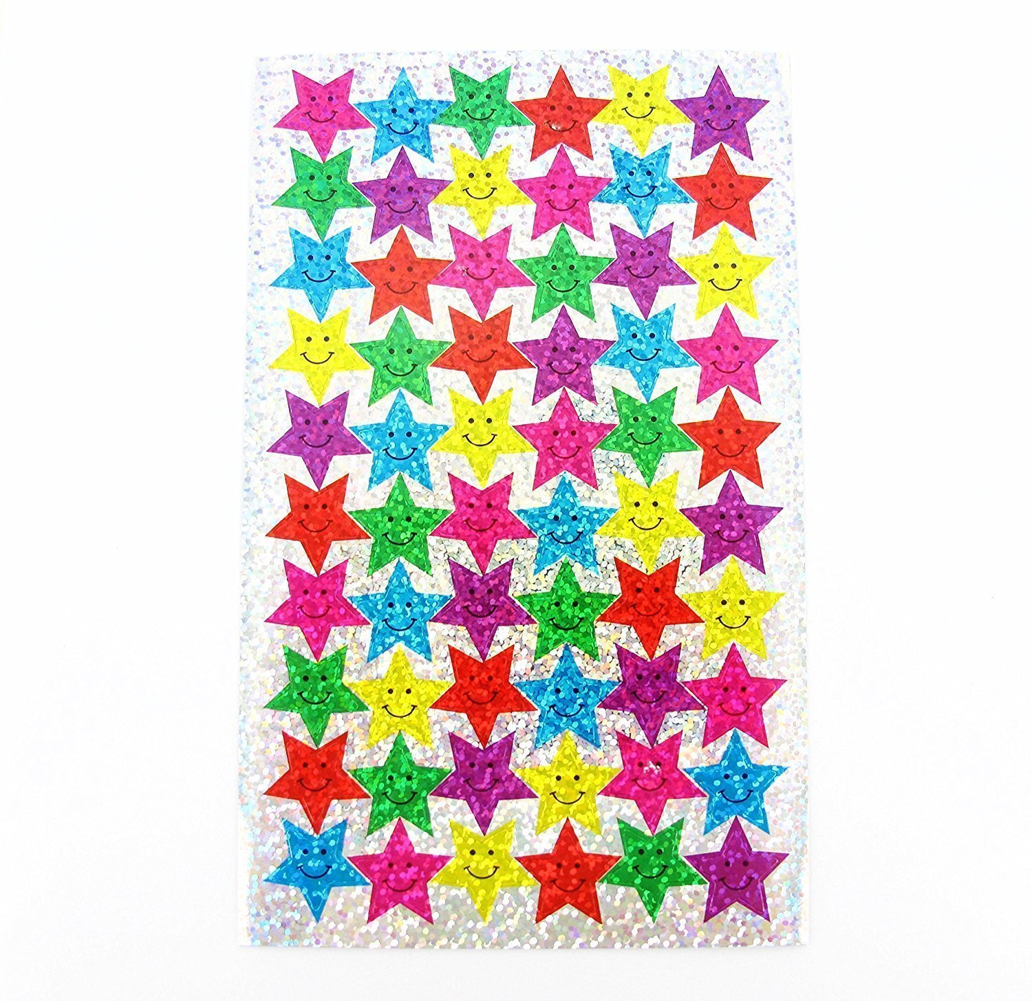 100 Sparkle Smiles Stickers & 100 Sparkle Stars Stickers - Great for Reward Charts & Marking School Work CHOCKERS SHOES